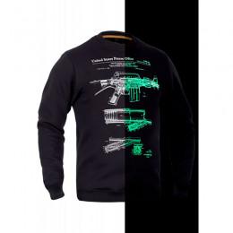 Свитшот зимний P1G-Tac® М16/AR15 Rifle Legend NightGlow Series